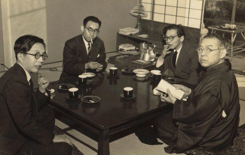 谷崎潤一郎 (昭和二十九年 京都谷崎邸)